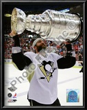 Maxime Talbot Game 7 - 2008-09 NHL Stanley Cup Finals With Stanley Cup Trophy Poster