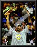 Kobe Bryant Game 5 - 2009 NBA Finals With MVP & Championship Trophies Posters