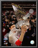 Chase Utley With World Series Trophy Prints