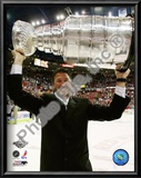 Mario Lemieux Game 7 - 2008-09 NHL Stanley Cup Finals With Trophy Prints