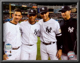 Jorge Posada, Mariano Rivera, Derek Jeter,& Andy Pettitte Final Game At Yankee Stadium 2008 Prints