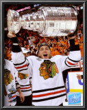 Patrick Kane with the 2009-10 Stanley Cup Prints