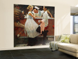 """""""After the Prom"""" Saturday Evening Post Cover, May 25,1957 Wall Mural – Large by Norman Rockwell"""