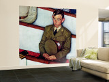 """""""Willie Gillis in Church"""" Saturday Evening Post Cover, July 25,1942 Wall Mural – Large by Norman Rockwell"""