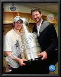 Sidney Crosby &amp; Mario Lemieux Game 7 - 2008-09 NHL Stanley Cup Finals With Trophy Posters