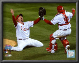 Brad Lidge and Carlos Ruiz celebrate Final Out of the 2008 World Series Posters
