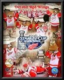Detroit Red Wings, 2007-08 Stanley Cup Champions PF Gold Prints
