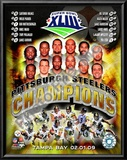 2008 Pittsburgh Steelers SuperBowl XLIII Champions Posters