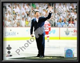 Mario Lemieux Ceremonial Puck Drop Game Three of the 2009 NHL Stanley Cup Finals Print
