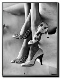 Models Displaying Printed Leather Shoes Framed Canvas Print by Gordon Parks