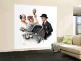 """""""Baby Carriage"""" Saturday Evening Post Cover, May 20,1916 Wall Mural – Large by Norman Rockwell"""