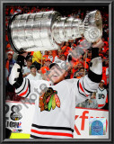 Marian Hossa with the 2009-10 Stanley Cup Posters