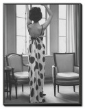 French Fashion Evening Dresses Sold at Ohrbach's Framed Canvas Print by Ralph Morse