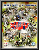 New Orleans Saints Super Bowl XLIV Champions PF Gold Art
