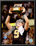 Drew Brees 2009 With NFC Championship Trophy Prints