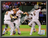 Pablo Sandoval, Freddy Sanchez, Cody Ross, Edgar Renteria, & Juan Uribe Celebrate Game Five of the Poster