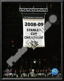 The Pittsburgh Penguins raise their 2008-09 Stanley Cup Champions Banner Prints