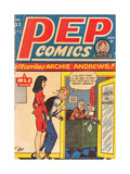 Archie Comics Retro: Pep Comic Book Cover 52 (Aged) Kunst von Bill Vigoda