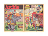 Archie Comics Retro: Archie Comic Spread Circus Serenade  (Aged) Print by Harry Sahle