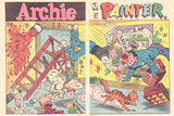 Archie Comics Retro: Archie Comic Spread Archie The Painter (Aged) Prints