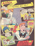 Archie Comics Retro: Archie is Good For What Ails You! Radio Broadcast Advertisement (Aged) Kunstdrucke von Bill Vigoda