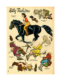 Archie Comics Retro: Katy Keene Cowgirl Fashions (Aged) Print by Bill Woggon
