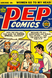 Archie Comics Retro: Pep Comic Book Cover No.104 (Aged) Print
