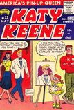 Archie Comics Retro: Katy Keene Comic Book Cover No.22 (Aged) Kunstdrucke von Bill Woggon