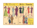 Archie Comics Retro: Be Lovely with Betty and Veronica Dress Patterns  (Aged) Posters