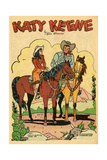 Archie Comics Retro: Katy Keene Cowgirl Pin-Up with K.O. Kelly (Aged) Kunstdrucke von Bill Woggon