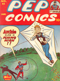 Archie Comics Retro: Pep Comic Book Cover No.45 (Aged) Prints