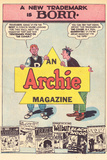 Archie Comics Retro: A New Trademark is Born Archie Magazine Advertisement  (Aged) Prints