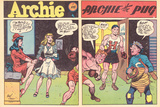 Archie Comics Retro: Archie Comic Spread Archie The Pug (Aged) Photo by Harry Sahle
