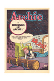 Archie Comics Retro: Archie Comic Panel Bringing Up Archie! (Aged) Kunstdrucke von Bill Vigoda