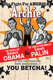 Archie Comics Cover: Archie #617 Barack Obama and Sarah Palin Campaign Pains Part 2 (Variant) Plakater af Dan Parent