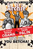 Archie Comics Cover: Archie No.617 Barack Obama and Sarah Palin Campaign Pains Part 2 (Variant) Posters af Dan Parent