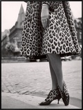 Laced Bootees of Leopard, to Match Coat, Designed by Dior Framed Canvas Print by Paul Schutzer