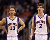 Portland Trail Blazers v Phoenix Suns: Steve Nash and Goran Dragic Photographic Print by Christian