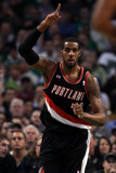 Portland Trail Blazers v Boston Celtics: LaMarcus Aldridge Photographic Print by Elsa .