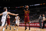 Cleveland Cavaliers  v San Antonio Spurs: Mo Williams and Tiago Splitter Photographic Print by D. Clarke Evans