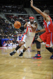 Los Angeles Clippers v Detroit Pistons: Richard Hamilton and Eric Gordon Photographic Print by Allen Einstein