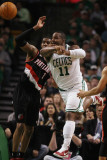 Portland Trail Blazers v Boston Celtics: Glen Davis and LaMarcus Aldridge Photographic Print by Elsa .
