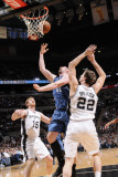 Minnesota Timberwolves v San Antonio Spurs: Michael Beasley, Tiago Splitter and Matt Bonner Photographic Print by D. Clarke Evans