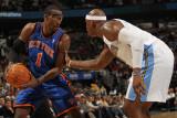 New York Knicks v Denver Nuggets: Amar'e Stoudemire and Al Harrington Photographic Print by Doug Pensinger
