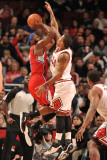 Los Angeles Clippers v Chicago Bulls: Derrick Rose and Baron Davis Photographic Print by Randy Belice