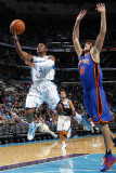 New York Knicks v New Orleans Hornets: Chris Paul and Danilo Gallinari Photographic Print by Layne Murdoch