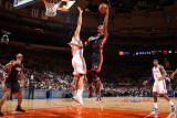 Miami Heat v New York Knicks: Chris Bosh and Landry Fields Photographic Print by Nathaniel S. Butler