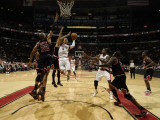 Chicago Bulls v Toronto Raptors: Jerryd Bayless and Taj Gibson Photographic Print by Ron Turenne
