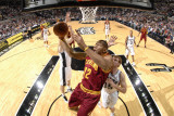 Cleveland Cavaliers  v San Antonio Spurs: Joey Graham and Matt Bonner Photographic Print by D. Clarke Evans