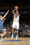 Minnesota Timberwolves v Golden State Warriors: Monta Ellis and Luke Ridnour Photographic Print by Rocky Widner